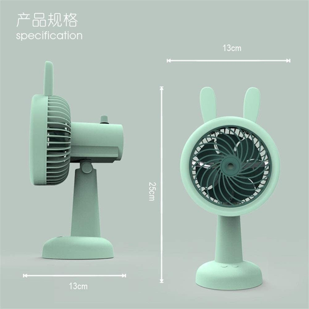USB Fans Desktop Cute Fan USB Charging Handheld Electric Fan Shake Head Rotatable Summer Cooling Fan for Home Color : Pink Office Outdoor Travel