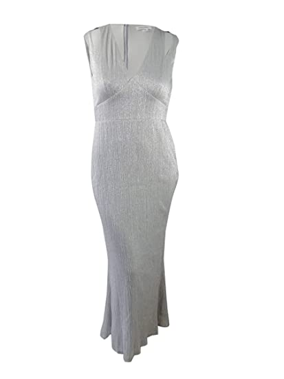 Calvin Klein Womens Metallic Full Length Evening Dress At Amazon