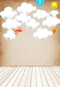 Amazon Com Ofila Kids Backdrop 5x6ft Cartoon Hot Air
