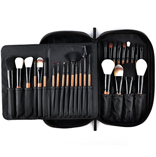High Brushes Makeup Quality - Makeup Brushes MSQ 28pcs Professional Beauty Brushes Sets with Luxury Makeup Bag (Foundation, Powder, Eyeshadow, Blush, Blending, Creams & Lip Brush) Best for Gift - Brown