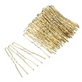 Blonde Waved Hair Bobby Pins Grips Clips Bobby Pins U Shape Hair Clips Hair Crips for Women Girls and Hairdressing 100PCS