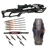 Ravin Crossbows R10 Predator Gray Crossbow with R182 Hard Case, Shoulder Sling, and Hunting Broadheads Bundle