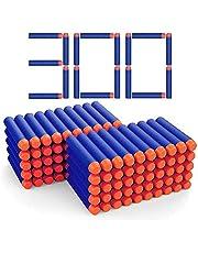300 Foam Bullets Refill Dart Pack for nerf Gun Bullets for N-Strike Elite Blasters Nerf Guns Standard Size Refill Nerf Darts Pack, Foam Bullets for Nerf N-Strike Elite Series Blasters Kid Toy Gun Blue