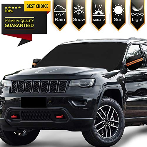 Windshield Snow Ice Cover Magnetic Large Car Covers - Fit Any Car, SUV Truck Mirror Snow Covers 82