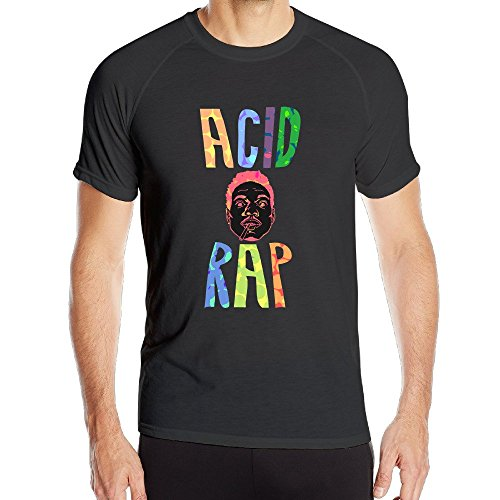 Mens Chance The Rapper Sport Quick Dry Short Sleeves T-Shirt Tees ()