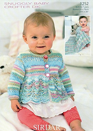 (Cardigan and Blanket in Sirdar Snuggly Baby Crofter DK (1252) Knitting Pattern)