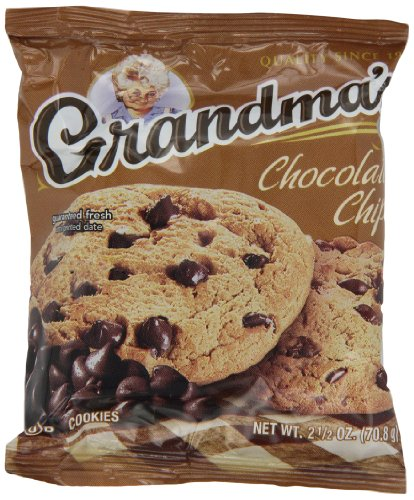 Grandmas Chocolate Chip - Grandma's Chocolate Chip Cookies - 33 Pks - Total 66 Cookies
