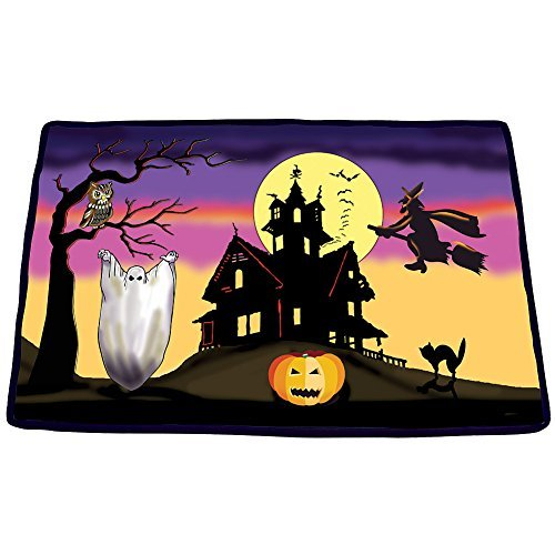 Halloween Scary Sounds Doormat - Witches Cackling Soft Decorative Rug (Scary Outdoor Halloween Decorations)