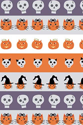 Notes: A Blank Guitar Tab Music Notebook with Cats and Pumpkins Halloween Cover Art