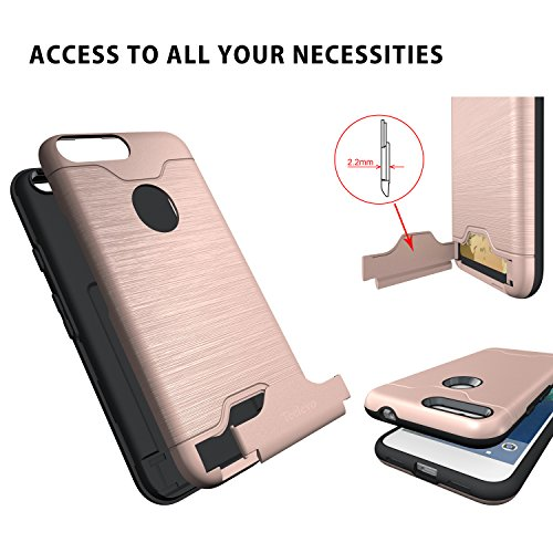 new product d7405 c3650 Google Pixel Case, Teelevo [Card Slot Holder] Dual Layer - Import It All