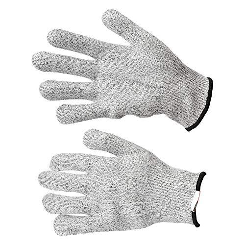 アンチカットグローブ、4サイズ1ペア食品グレードアンチカット保護ワークグローブカット耐性の耐摩耗性作業手袋(S)