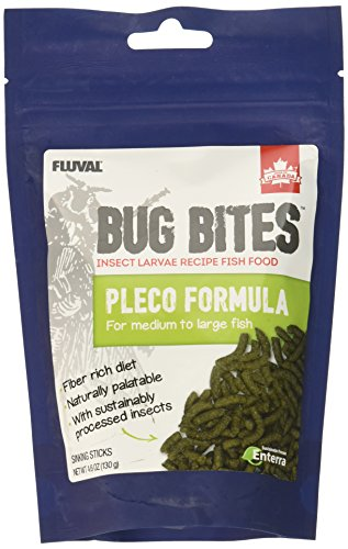 Fluval A6587 Bug Bites Bottom Feeder Sticks 4.59 oz, Medium to Large Fish