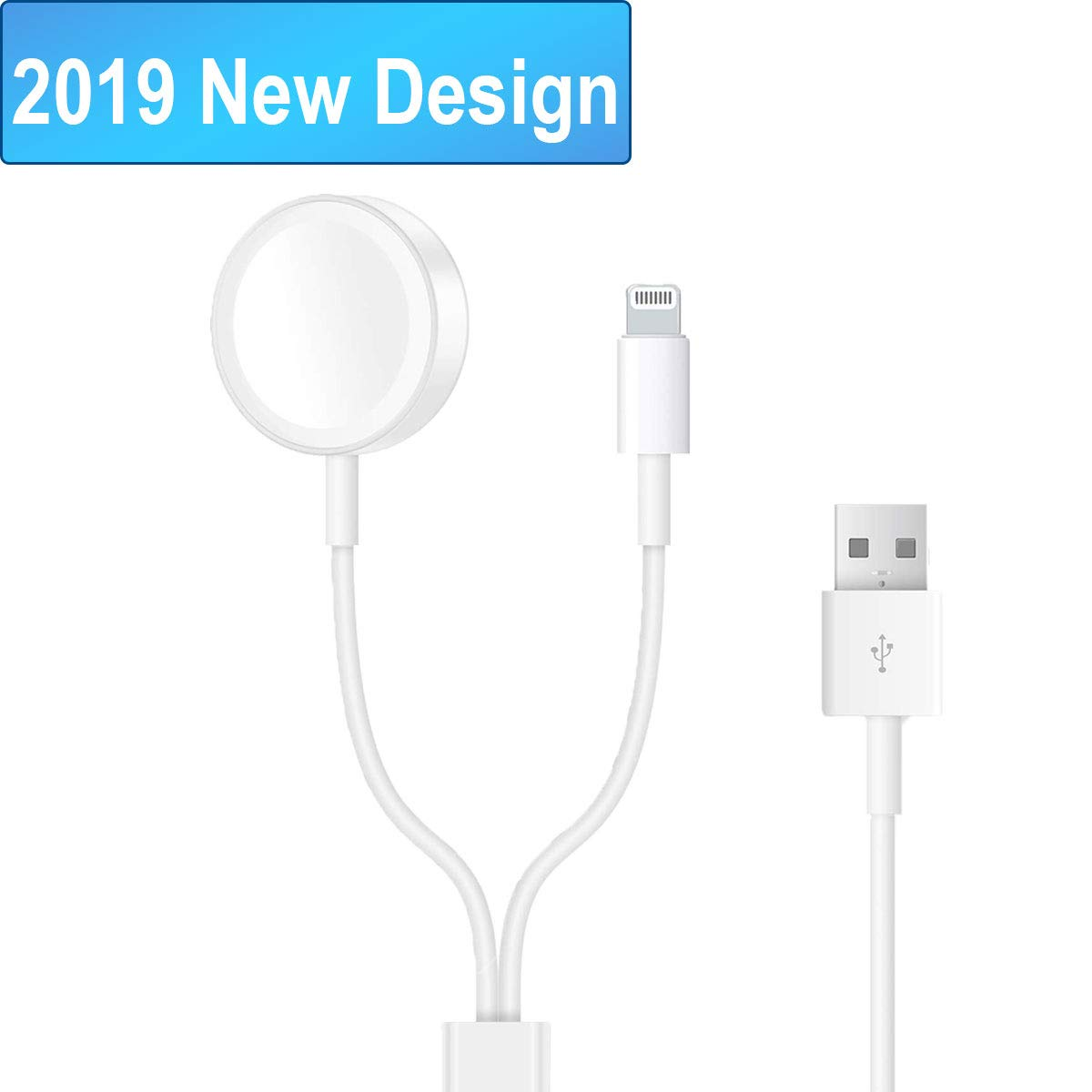 Joselinen Compatible with Apple Watch Charger 2 in 1 Pad Charging Cable Compatible with Apple Watch iwatch Series 1/2/3/4/iPhoneXR/XS/XS Max/X/8/8Plus/7/7Plus/6/6Plus
