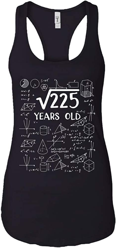 Amazon Com Hhlstore Square Root Of 225 15 Years Old 15th Birthday Gift Tank Top Black Clothing Use this calculator to find the principal square root and roots of real numbers. amazon com