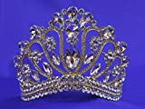 Gold Pageant Rhinestone Crystal Tiara Homecoming P382