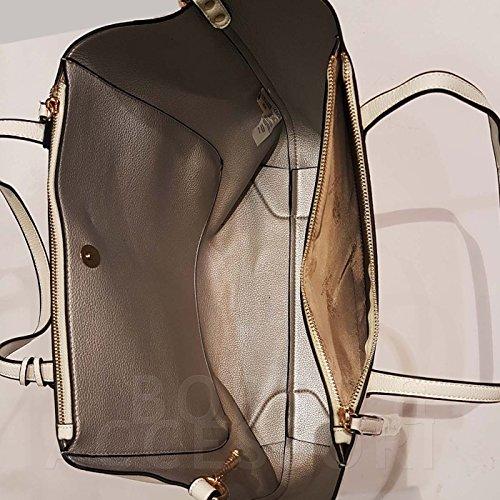 BORSA DONNA shopping bag white US17S009-02WH
