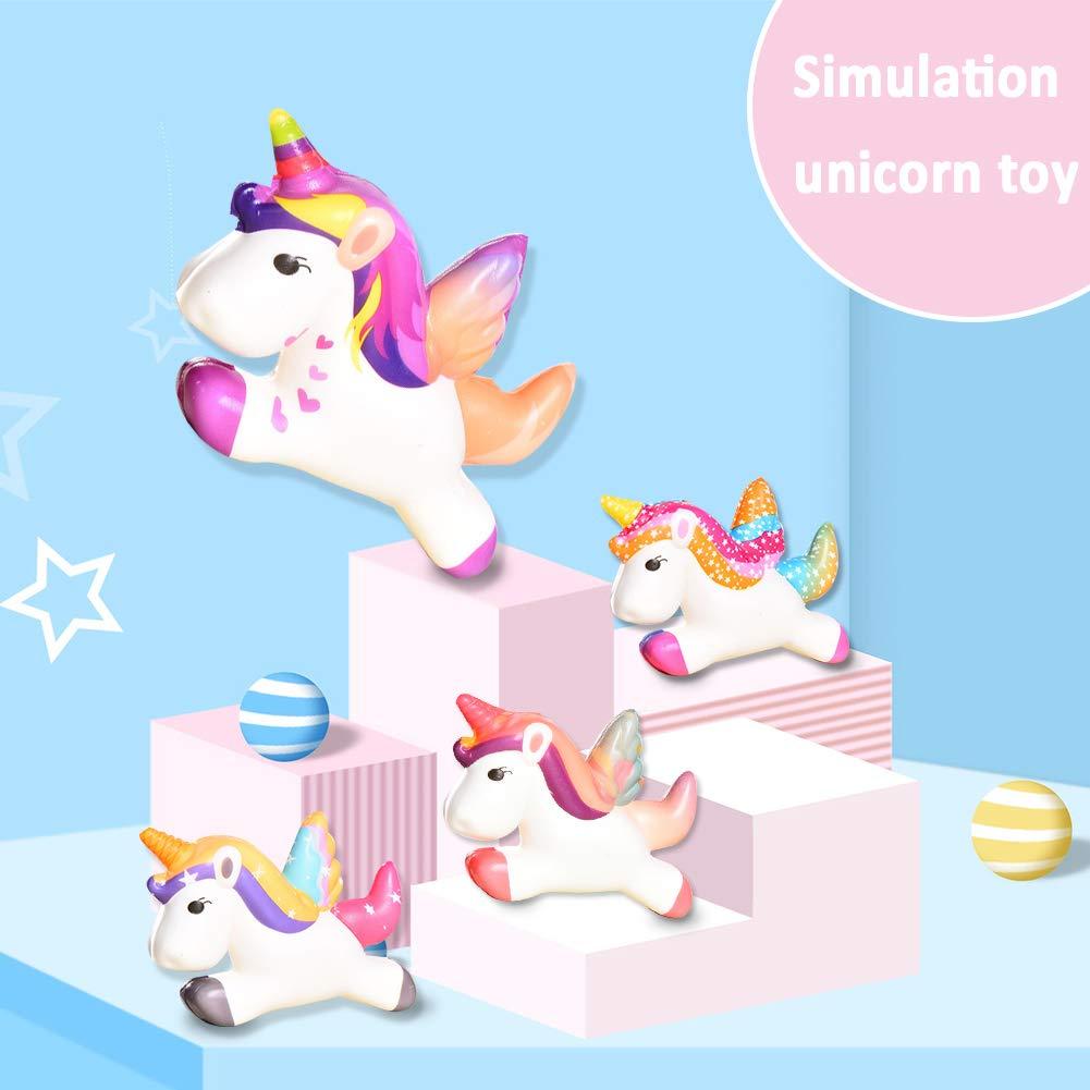 INTVN Juguetes Descompresi/óN Lindo Unicornio Squishy Slow Rising Cartoon Doll Cream Juguete De Alivio del Estr/éS Perfumado Colgantes