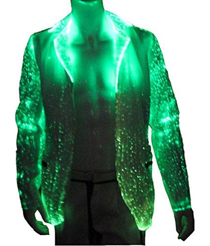 RGB LED Light up Jackets Fiber Optic Burning Man Costumes Blazers Club...
