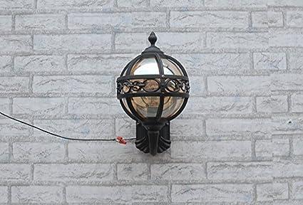 D chandelier retro ingresso esterno lampada da parete lampada da