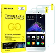 PASBUY 2 Pack Super thin 0.26mm [ Japan Glass ] Premium Tempered Glass film Screen Protector-Retail packing for Huawei P8 Lite (2017)