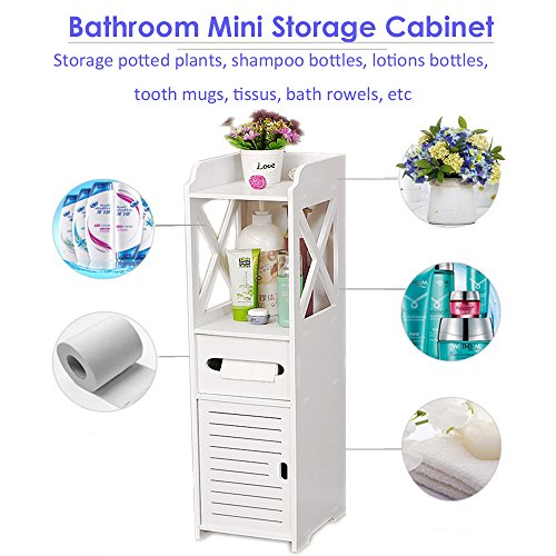 Bathroom Cabinet, Fresh Household Mini Bathroom Shelf to Storage Tissue Dispensers Organizer Rack by Fresh Household (Image #3)