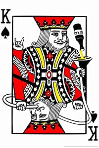 4.5 ft x 6.5 ft = 29 square ft Doormat Waterproof Plush Living Kitchen Party King Playing Card Funny