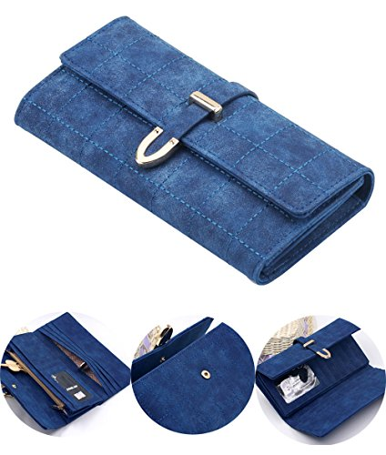 Clutch Wallet Zip Bag Card Holder (Blue) - 3