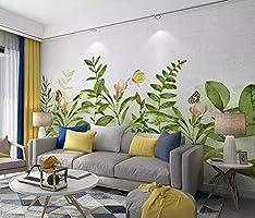 Papier Peint Intiss/é Tapisserie Murales Panoramique 3D Papier Peint Plante Tropicale Perroquet Salon Chambre Fond Tv Canap/é D/écoration Fond Mural