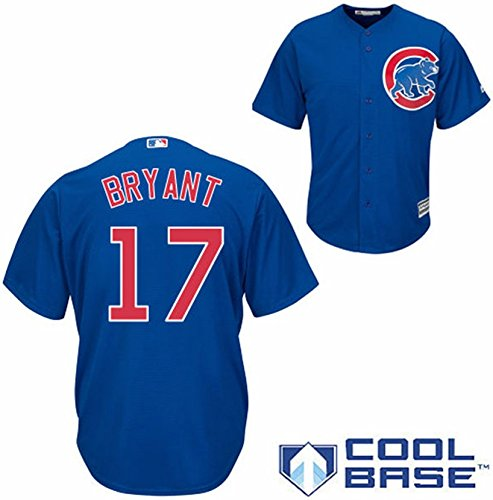 Chicago Cubs Kris Bryant #17 Road Jersey Blue Cool Base Stitched PE100117 (2X-Large )