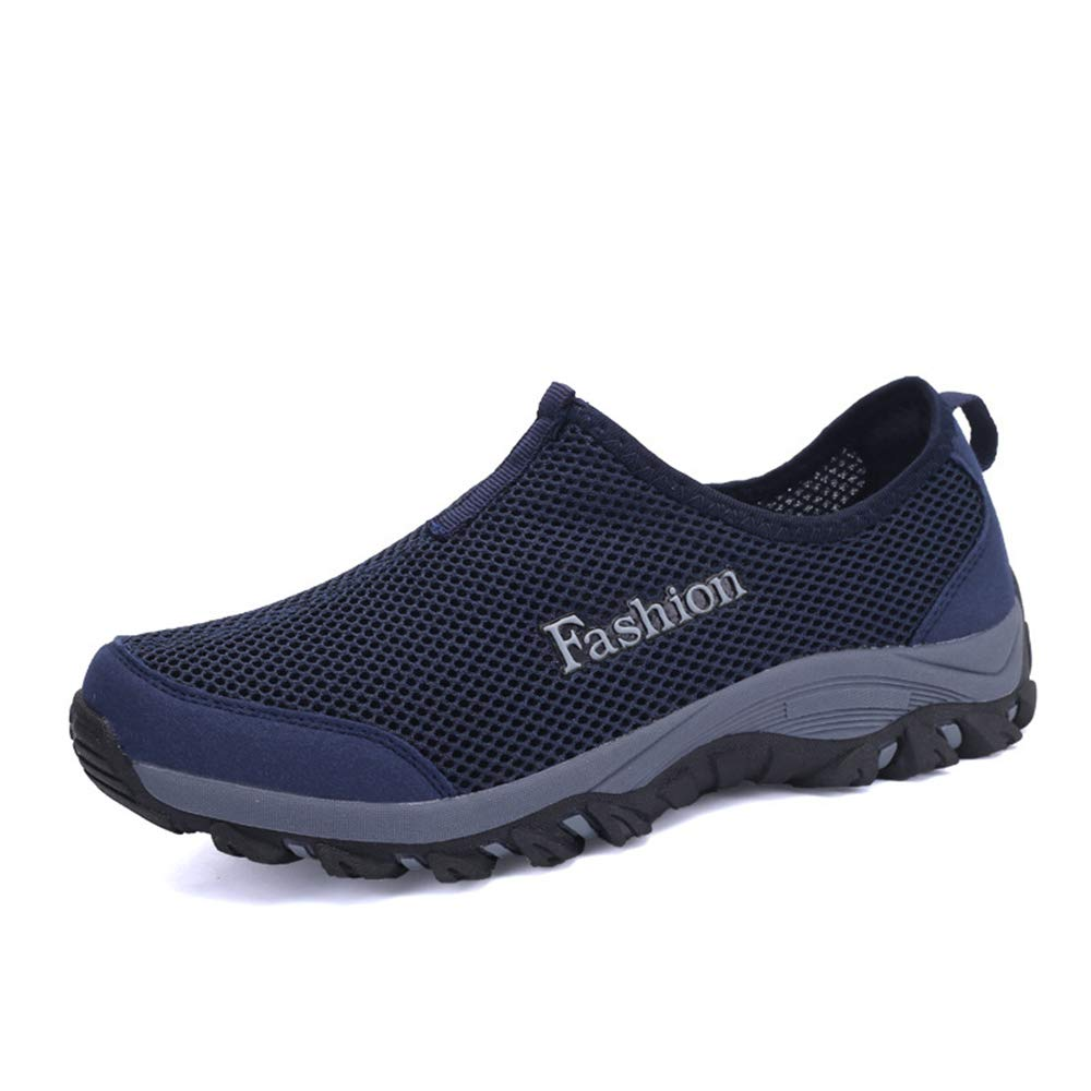 Dark blueee 40 6.5 D(M) US Men MIKA HOM Men Outdoor Lightweight Hiking shoes Breathable QuickDry shoes Lazy shoes