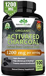 Organic Activated Charcoal Capsules - 12...