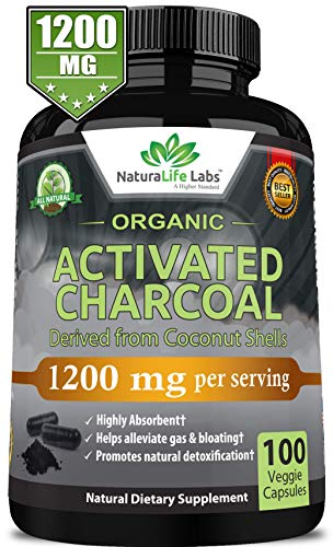 Organic Activated Charcoal Capsules detoxification product image