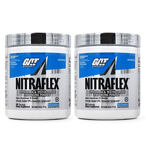 GAT Nitraflex Pre-Workout High-Intensity Training Formula, Blue Raspberry