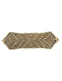Liquid Metal by Sergio Gutierrez Antique Gold 24K Bracelet B108-AG SG 3 Sizes - SG Velvet Pouch and fine Box Included
