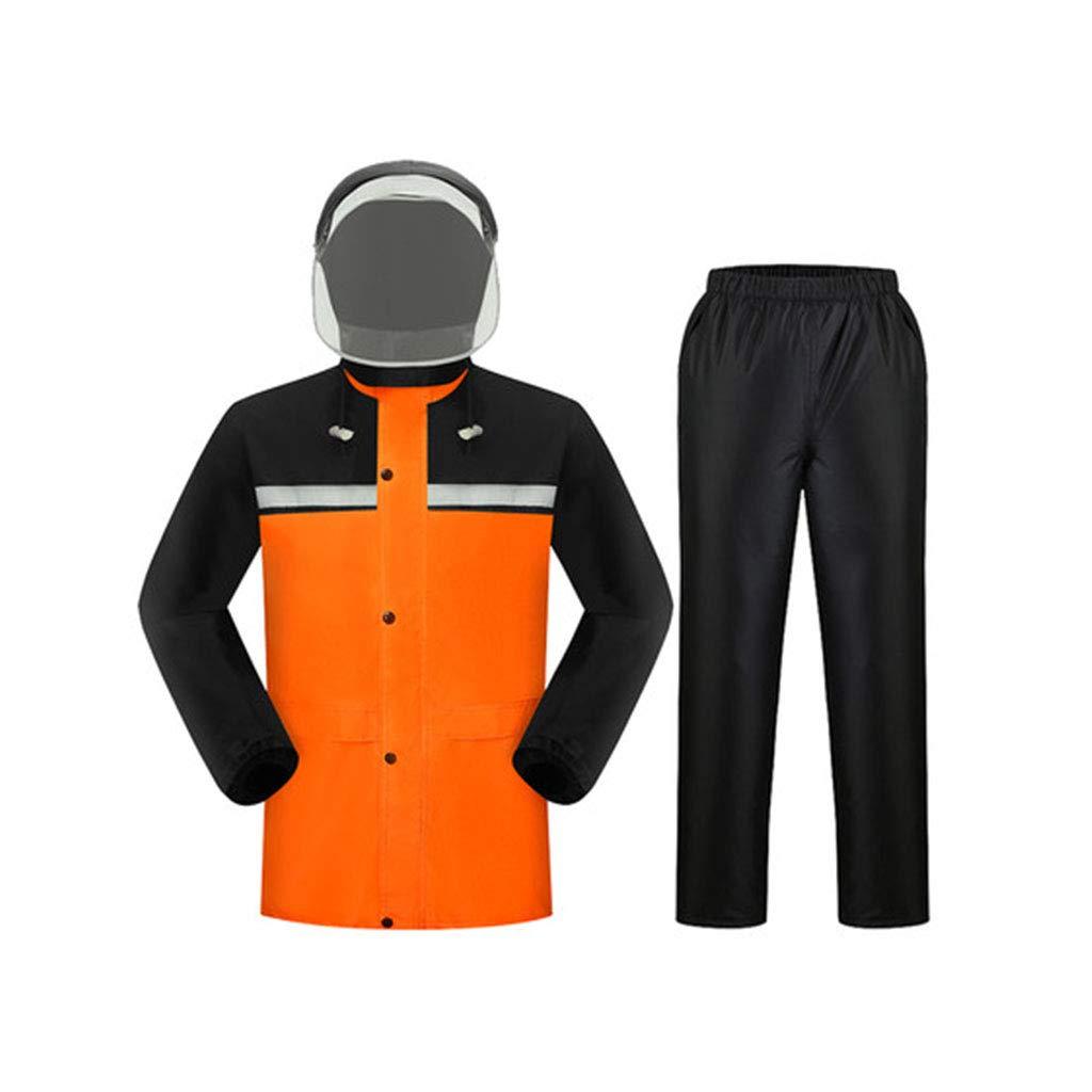Vibrant Orange grand DQMSB Le Pantalon de Pluie imperméable Convient aux Hommes et Femmes Adultes. (Couleur   Vibrant Orange, Taille   M)