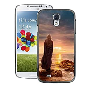 Snap-on Series Teléfono Carcasa Funda Case Caso para Samsung Galaxy S4 , ( Sunset Woman )