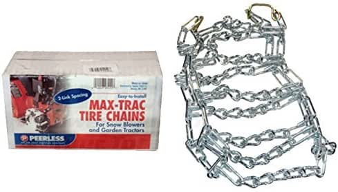 Pair of 2 Link Snow Blower Tractor Tire Chains 16 X 6.50 X 8 5.70 X 8