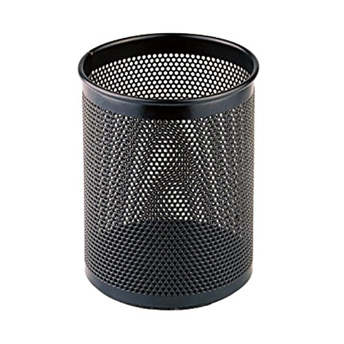 Comix Metal Pen and Pencil Holder, Oval Shaped, Wired Mesh Design, Durable Metal - Black (B2002BK)