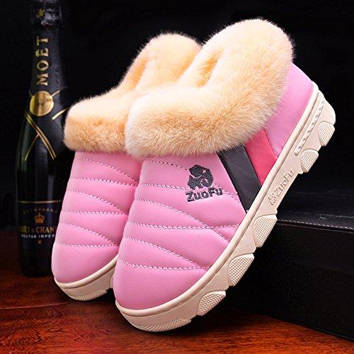 Fankou all-inclusive con cotone pantofole uomini per aumentare la dimensione di grande caldo scarpe impermeabili 46 47 spessa pelle pu inferiore 48 scarpe di cotone, spessa 40-41 metri alla fine di [a