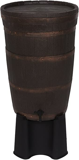 Kreher - Aljibe de madera, con tapa desmontable, capacidad de ...