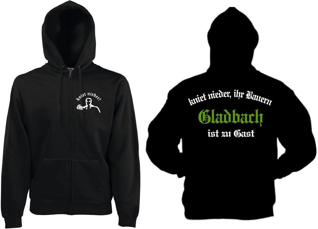 world-of-shirt Gladbach Herren Kapuzensweat Ultras kniet nieder.