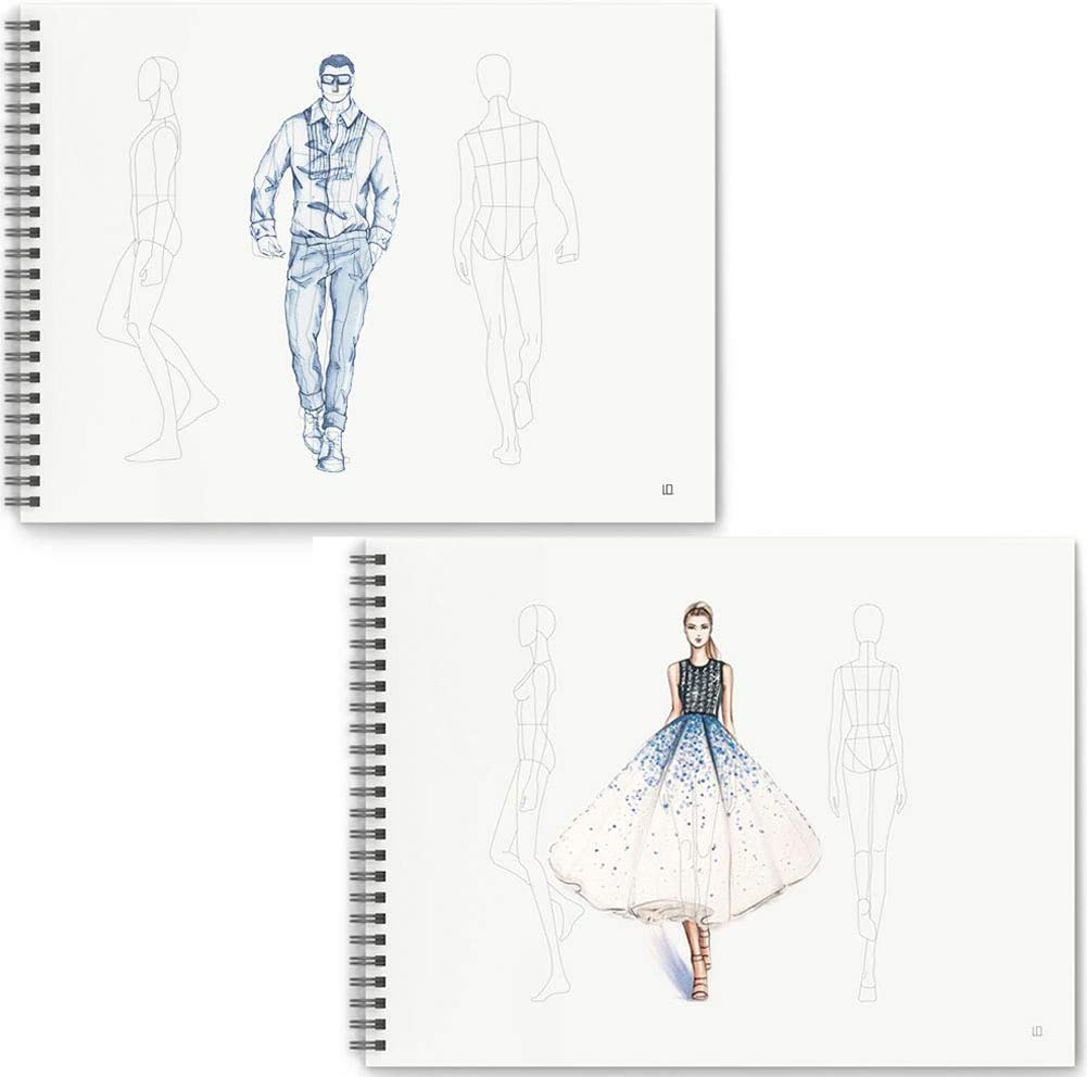 Mocohana Costume Designer S Sketchbook Fashion Design Notebook With Figure Templates Female Male Amazon Co Uk Kitchen Home