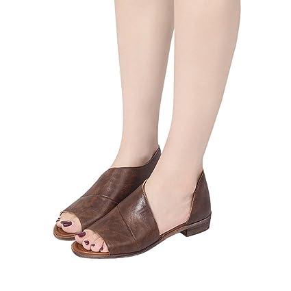 5633b6a391 Amazon.com: Hopwin Women Wedge Platform Sandals, Ladies Solid Color Pointed  Toe Low Heel Shoes, Block Heel Dress Shoe: Garden & Outdoor