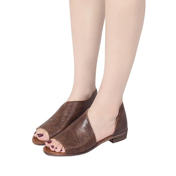 Peep-Toe Zapatos De Tacón Cuadrado Bajo Sandalias De Vestir Para Mujer De PU Color Solido Sexy Zapatillas Sin Cordones Hebillas Zapatos Casual De Playa ...