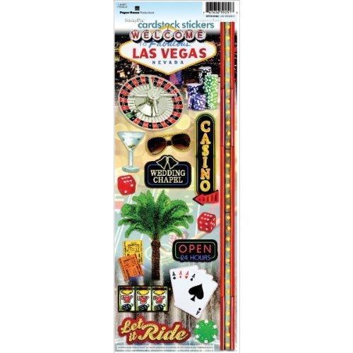Las Vegas Cardstock Stickers - Paper House STCX-0160E 6-Pack Travel Cardstock Stickers, Las Vegas 2 by Paper House Productions