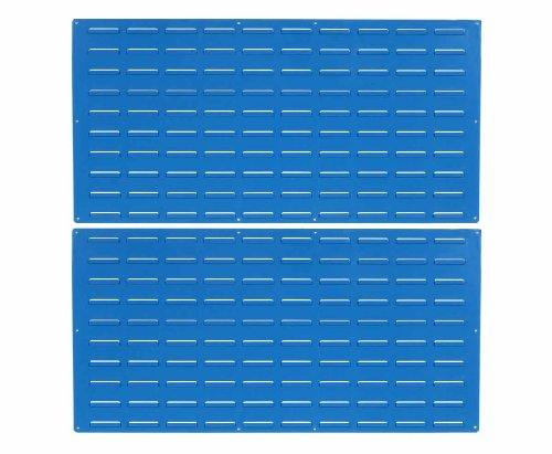 Triton Products LVP-2 LocBin Epoxy Louvered Panel, 24-Inch H x 48-Inch W, Blue