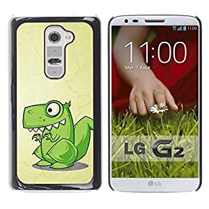 Impact Case Cover with Art Pattern Designs FOR LG G2 Cute Funny T-Rex Dinosaur Betty shop