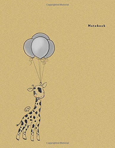 Notebook: Giraffe Balloon  -  Bimumonji