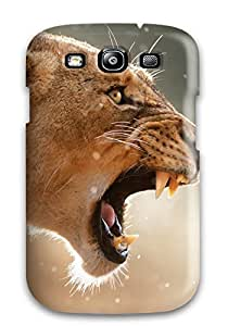 Rugged Skin Case Cover For Galaxy S3- Eco-friendly Packaging(lion)