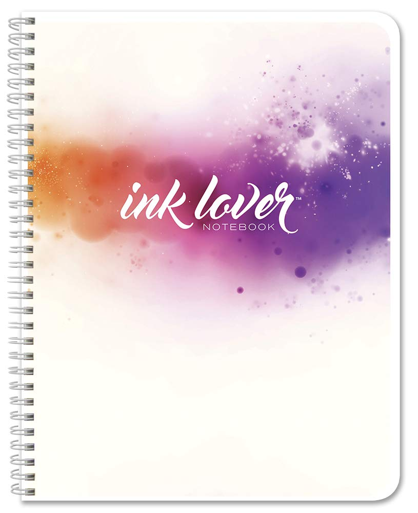 100 Pages 8.5 x 11 InkLovers Wire-O JOU-100-7CW-PP- BookFactory InkLover Notebook//Marker and Fountain Pen Friendly Book//Premium Thick Bleed Resistant Paper